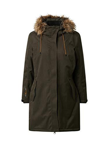 Killtec Parka funcional para mujer Ostfold Wmn Prk A con capucha desmontable, Mujer, 35613-000, Dunkeloliv, 36