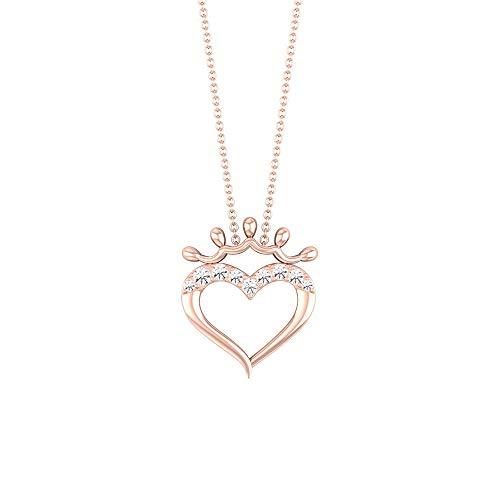 Rosec Jewels 18k dorado rosa Runde Diamond
