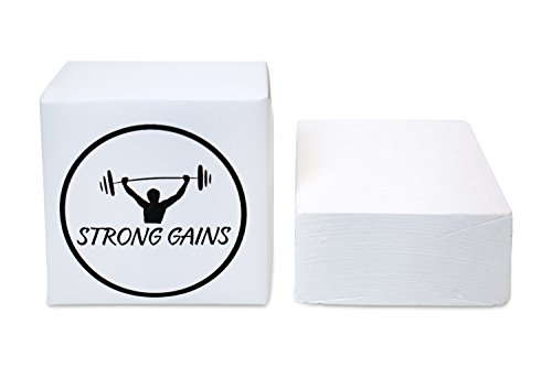 STRONG GAINS 1 Magnesia Block 56 Gr. Gym-Chalk für das Krafttraining, Klettern, Turnen (1)
