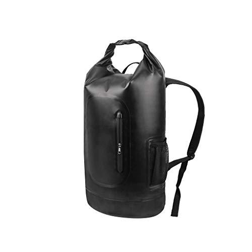 Strandtasche Griff Outdoor Schwimmen Lagerung Schulter Dichtung Tauchen Bergsteigen Reise Treiben Vier Farben 28 * 63 cm XMJ (Color : Black)
