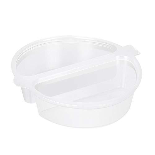 Paquete de 50 Recipientes para condimentos de dos compartimentos Tapa adjunta Tazas de porciones transparentes a prueba de fugas Salsa de salsa de chile Chutney Cajas para refrigerios individuales par
