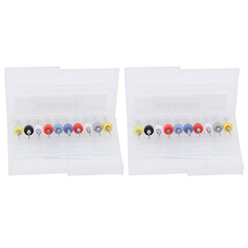 Heayzoki Juego de Micro Brocas, Broca de aleación, Broca de vástago Fijo de 0,1 mm a 1 mm, Juego de 10 Piezas, diseño antivibración, Resistente y Duradero