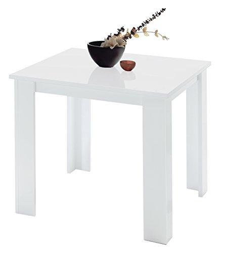 13Casa Granada a5 Tavolo da Pranzo. Dim. 90 * 90 * 78h cm. melamina. Bianco.