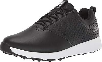 Skechers mens Elite 4 Waterproof Golf Shoe, Black/White, 9.5 US