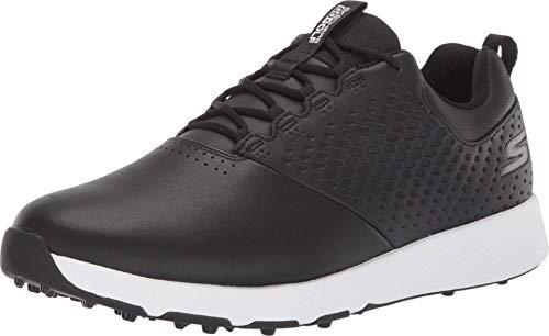 Skechers mens Elite 4 Waterproof Golf Shoe, Black/White, 9 Wide US