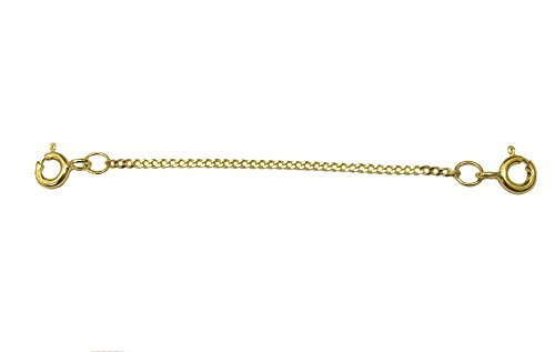 ANTOMUS REAL 9 CARAT GOLD (375) 2.5 INCH QUALITY CLIP ON SAFETY CHAIN.