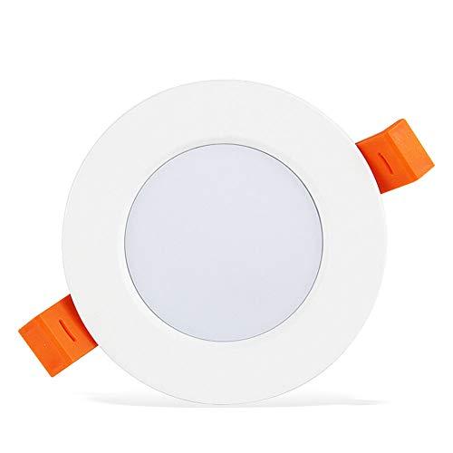 NanXi LED-Runde Einbaueinbau Ultra Slim Aluminium Embedded Spotlight Kommerzielle Indoor LED Deckenverkleidung-Licht Küche Wohnzimmer Schlafzimmer Enegiesparnung Lampe,Weiß,9W