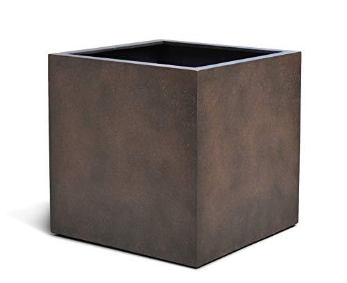 VAPLANTO® Pflanzkübel Cube 40 Rost Braun Quadratisch * 40 x 40 x 40 cm * Manufaktur Qualität * 10 Jahre Garantie