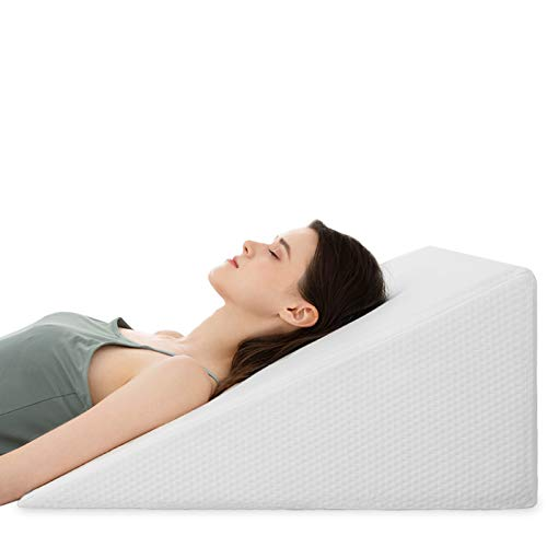 Bed Wedge Pillows Leg Elevation Reading Pillow & Back Support Wedge Pillow - for Back and Legs Support, Back Pain, Leg Pain, Pregnancy, Neck and Shoulder Joint Pain, Sleeping 10' x 24' x 24'