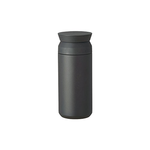 Kinto Reisebecher – Isolierflasche, schwarz, 340 ml, doppelwandig und vakuumisoliert, hält Ihr Lieblingsgetränk stundenlang warm oder kalt.