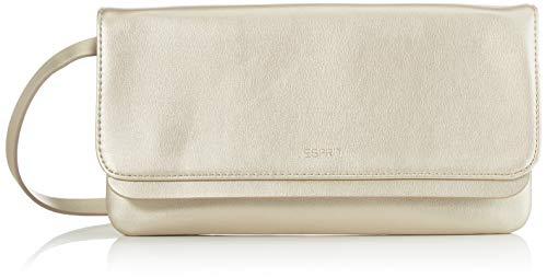 Esprit Accessoires Damen Nika_Baguette Clutch, Gelb (Gold), 2x15x28 cm