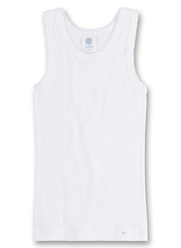 Sanetta - Camiseta Interior para niña, Talla 6 años (116 cm), Color Blanco 010