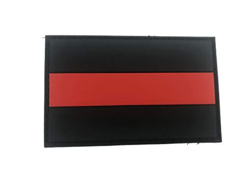 Dünne Rot Linie Flagge Feuerwehr Feuerwehrmann PVC Klett Emblem Abzeichen Patch