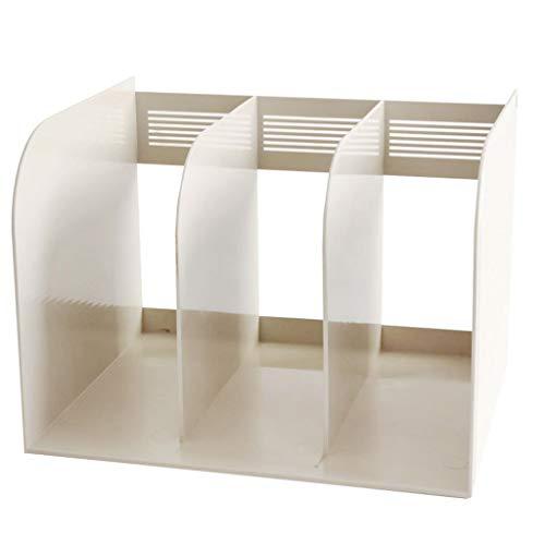 Dokumentenhalter Aktenregal verdicktes Plastikregal einfacher Desktop Aktenordner Datenrahmen Bücherregal Empfangsbox Desktop Office Statione Ordner Desktop (Color : White)