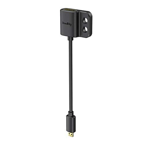 SMALLRIG Cavo Adattatore per Cavo HDMI 4K Ultra Sottile Micro HDMI Maschio a HDMI Completo Femmina 14 cm (D ad A) - 3021