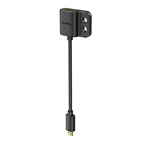 SMALLRIG Cable Adaptador HDMI 4K Ultradelgado, Hembra HDMI Tipo A a Macho...
