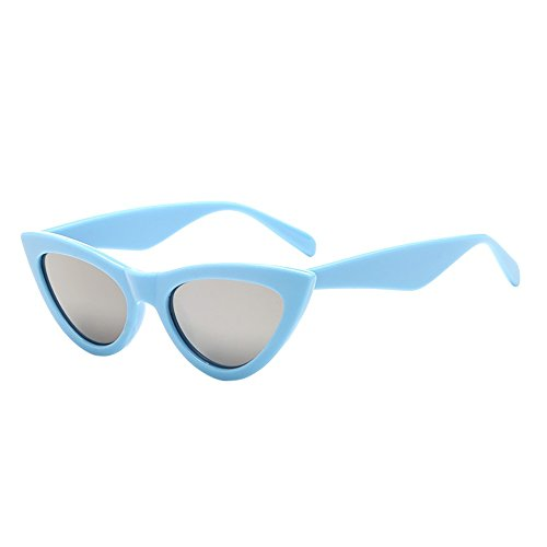 Wobang Gafas de sol unisex vintage con ojo de gato y ojos de gato retro, gafas de sol para hombre y mujer 537 Talla única