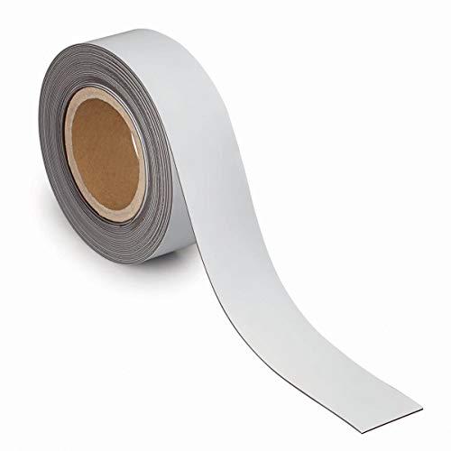 Maul 6524902 Kennzeichnungsband, magnetisch, 10000 mm x 5 cm, 1 mm, weiß