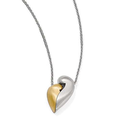 Venture Petra Azar Collection 925 Sterling Silver Rhodium-Plated Satin Finsih Magnetic Heart Adjustable Necklace