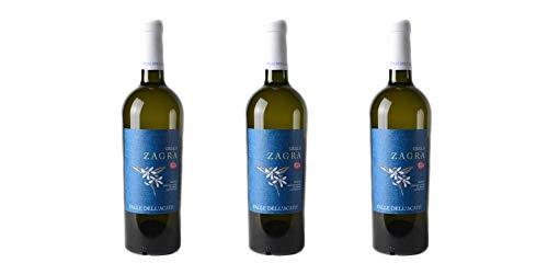 """3 Bottiglie di Sicilia Grillo DOC""""Zagra""""   Cantina Valle dell'Acate   Annata 2017"""