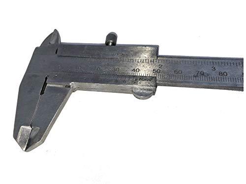 Calibro Analogico 150 mm in acciaio misure interne esterne e profondità con custodia plastica