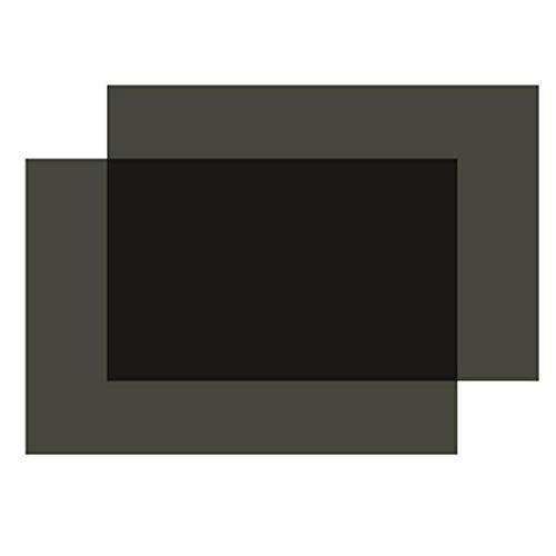 Polarized Film Sheets 2 PCS 7.8x11.8inches/20x30cm Adhesive Polarizer Linear Polarizing Filter for Screen Educational Physics