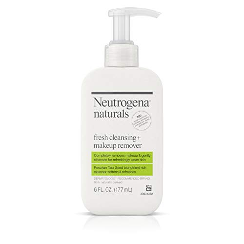 Neutrogena Naturals Fresh Cleansing Daily Face Wash + Makeup Remover with Naturally-Derived...