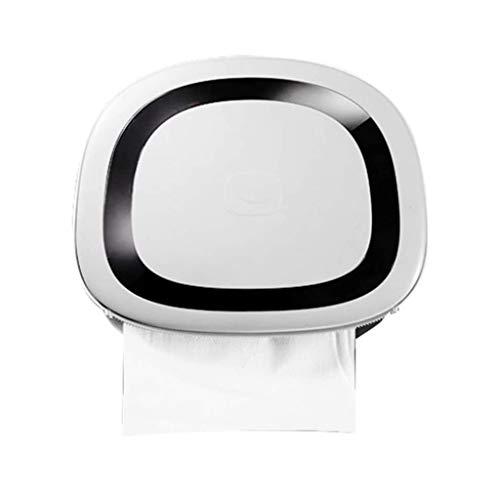 ECSWP YANGDUO Caja de pañuelos de baño, Papel higiénico Titular, Aseo Bandeja, Punch-Impermeable Libre del Tubo de Papel