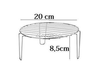 Griglia per grigliare nel forno microonde, sollevando il cibo più in alto per aiutarne la cottura. diam 20 cm X h. 8,5 cm