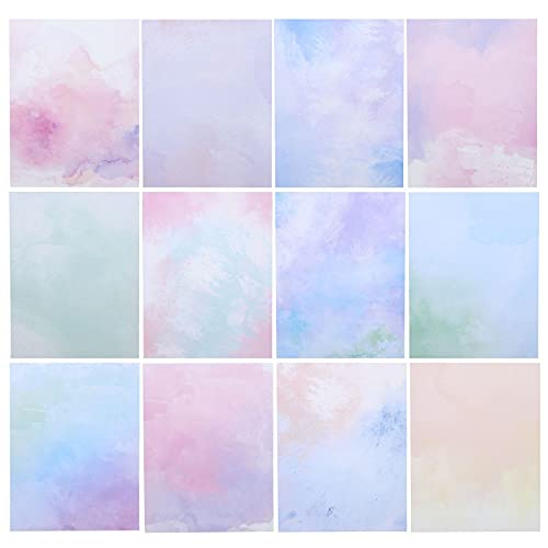 Watercolor Stationery Paper, Double Sided, Colorful, Printer Friendly for Invitations, Letters (8.5 x 11 Inches, 96 Sheets)