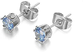 اقراط كريستال ستانلس ستيل للنساء حلق اذن للرجال حلق مجوهرات فيمي