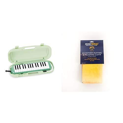 SUZUKI 鍵盤ハーモニカ メロディオン アルト 32鍵 MXA-32G + MUSIC NOMAD ピアノ&キーボード用 リバーシブルクロス MN230 セット