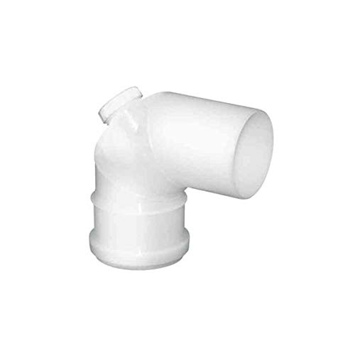 PLASTIC combustion courbe PPS DN 100 87 ° avec INSPECTION