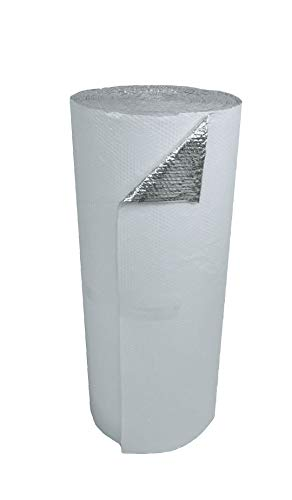 """US Energy Products 48"""" x 100' White Double Bubble Reflective Foil Insulation Thermal Barrier R8"""