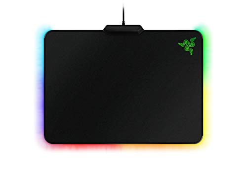 Razer Firefly Chroma Hard Gaming Mouse Pad: Customizable Chroma RGB Lighting - 14'x10' - Ideal for Quicker Mouse Movements - Non-Slip Rubber Base