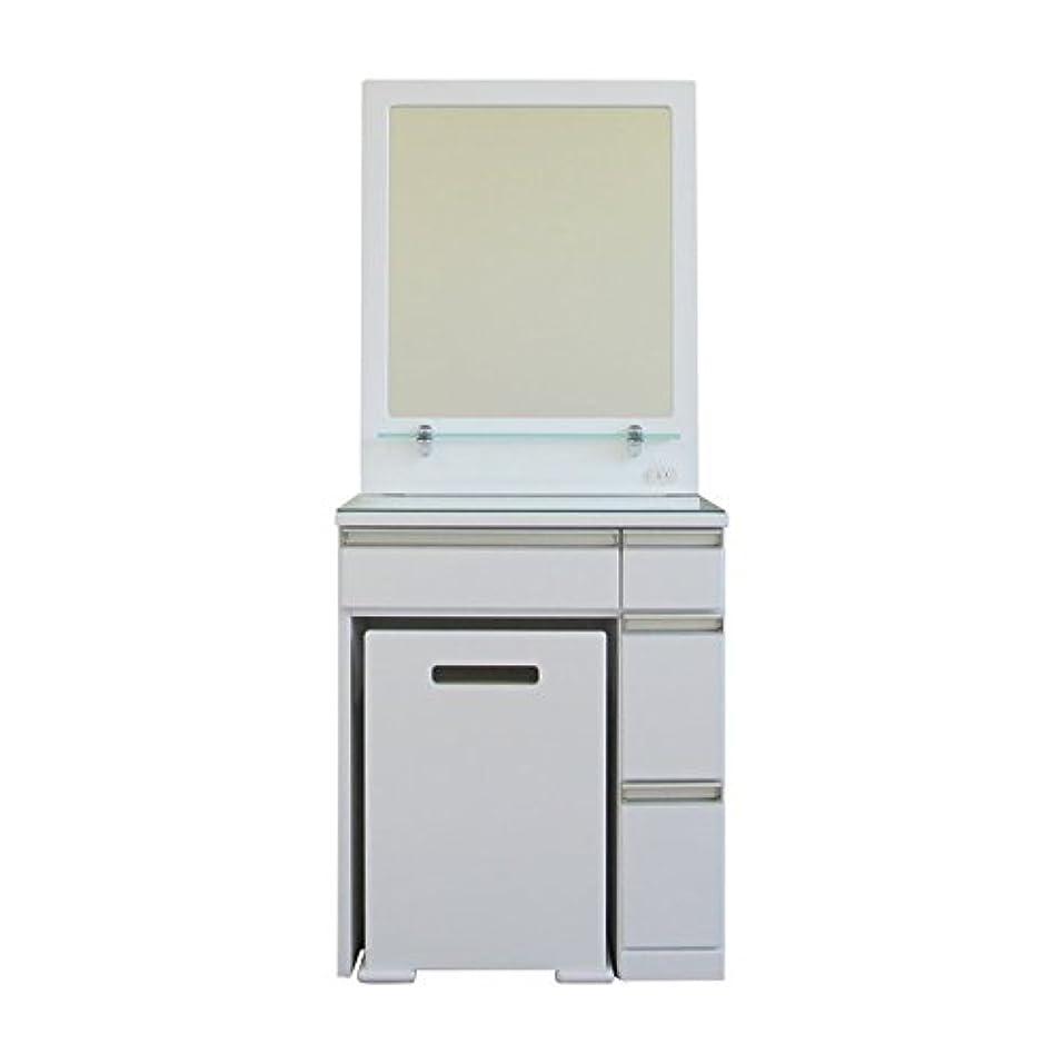 キッチンバウンスペリスコープISSEIKI ドレッサー 化粧台 ホワイト 幅58.5 イス付き 木製家具 RUSHIART 2 60 DRESSER (WH)