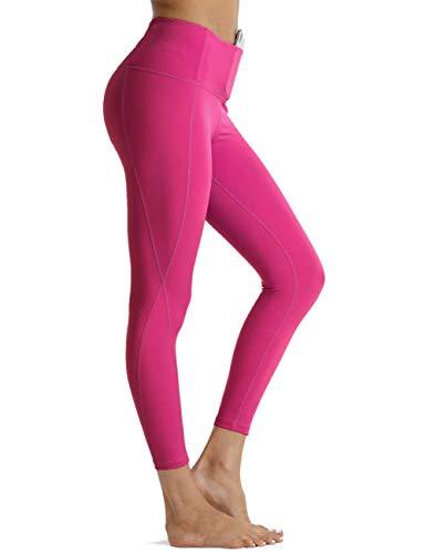 Rocorose High Waisted Women's Lined Leggings Sexy Lift Workout Yoga Pants Scrunch Leggings,Claret,XXL …