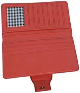 Women Fashion Pink Soft Genuine Leather Handbag Wallet Clutch Purse Card Holder