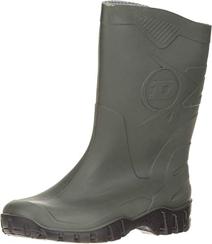 Dunlop , Unisex-Erwachsene Wellington-Schuhe Gr. 9 UK, Green/Black Sole