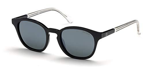 Guess GU6945-01Q-51 - hombre Gafas de sol - Shiny Black/Green Mirror