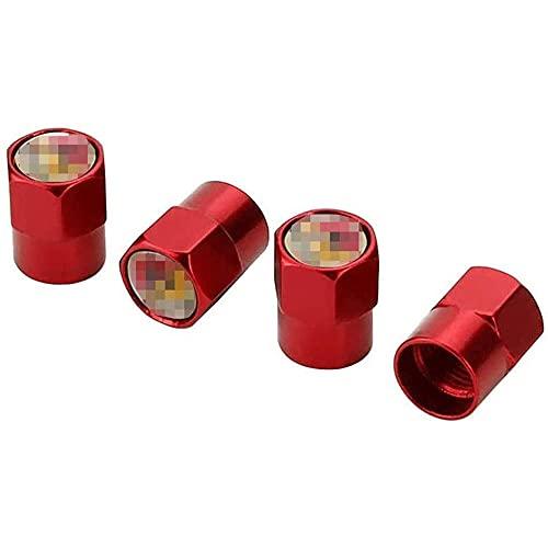 Shj_CN Coche Neumático Aluminio Tapas para válvulas con Logotipo 4 Piezas, para Abarth 595 500 695 FIAT 500 131 124 Spider Punto 1000 204a