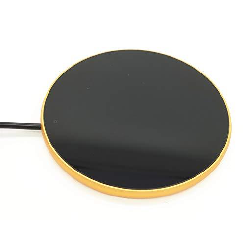 Kaffeetasse Tassenwärmer USB Isolierung Untersetzer Büro Elektrischer Teewärmer Milchbecher Heizplatte Wärmer mit Anzeigelampe und Schalter (Gold)