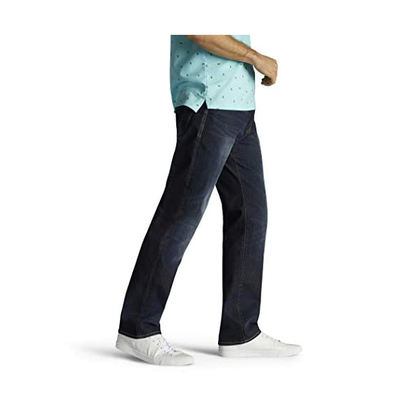 LEE Men's Performance Series Extreme Motion Straight Fit Tapered Leg Jean, Trip, 36W x 34L