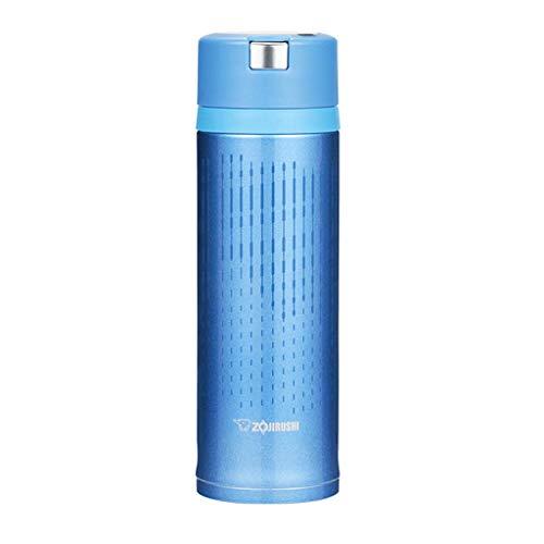 Unbekannt FRF Wasserbecher- Edelstahl Isolierschalen für Männer und Frauen, Student Portable Vacuum Cup Sportschale (Farbe : Blau, größe : 6.5x21.5cm)