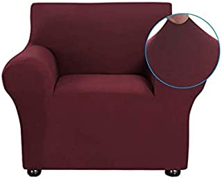 Docooler Stretch Sofa Slipcover Milk Silk Fabric Anti-Slip Soft Couch Sofa Cover 1 Seater Washable for Living Room Kids Pe...