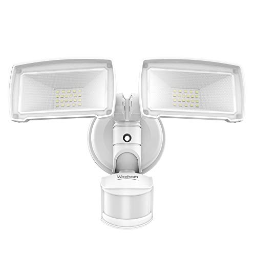 LED Flood Light Outdoor, Wayhom 30W Security Light, 180° Motion Activated, 3500lm Dusk to Dawn Motion Sensor Outdoor Light , IP65 Waterproof, 4 Modes, 5500K, ETL Listed Floodlight for Yard and Stair