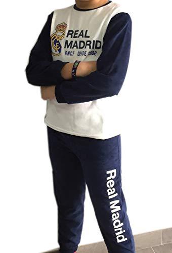 FUTBOL Pijama Real Madrid Adulto Invierno Tejido Terciopelo