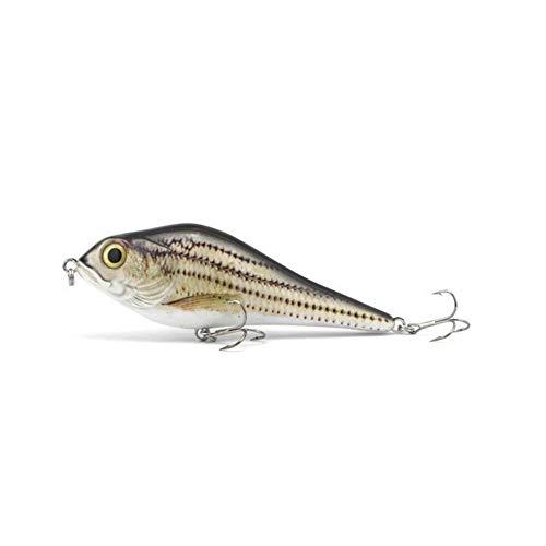 WFBD-CN Caja de Pesca Nueva Calidad 70g el señuelo 155mm Lento hundimiento Artificial Duro Jerkbait señuelo de plástico ABS de Lure Aparejos de Pesca (Color : 363, Size : 5pcs)