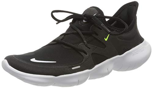 Nike Girl's WMNS Free Rn 5.0 Track & Field Shoes, Multicolour (Black/White/Anthracite/Volt 000), 3 UK