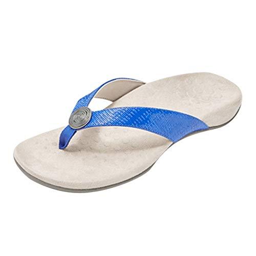 YWLINK Sandalias Planas De Verano para Mujer Zapatillas De Playa Antideslizantes Confort De Fondo Suave Resistente Al Desgaste Zapatos De BañO Interior Al Aire Libre Chanclas 2020 Nuevo
